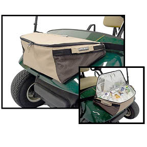 Cooler On Front of the Golf Cart