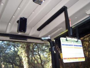 Overhead Golf Cart Scorecard Holder