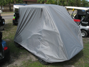 "Storage Cover for Golf Cart with a short 53/56"" top and an extended botom rear seat or cargo box"